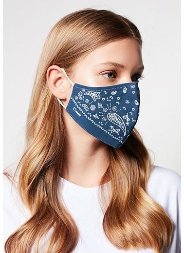 Mavi Kadın  Baskılı Maske 198064-18790 İndigo